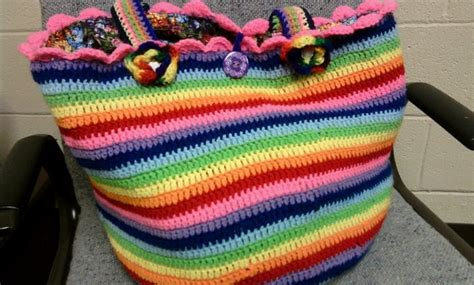 crochet lucy bag pattern cheryl s items of interest crocheted rainbow bag