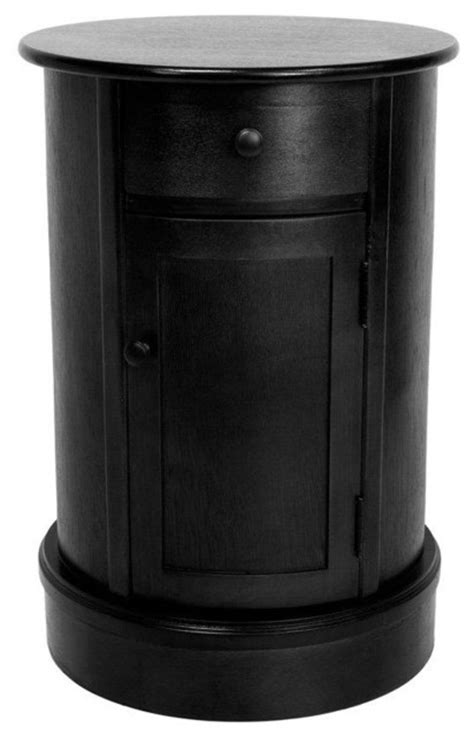 Design For Oval Nightstand Ideas 26 Quot Classic Oval Design Nightstand Black Transitional Nightstands And Bedside Tables By