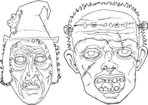 dibujos para colorear de halloween calabazas mascaras carnaval ninos caretas monstruos halloween dibujalia dibujos para