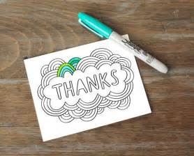 greeting card thanks color your own diy thank you card lettered design zentangle