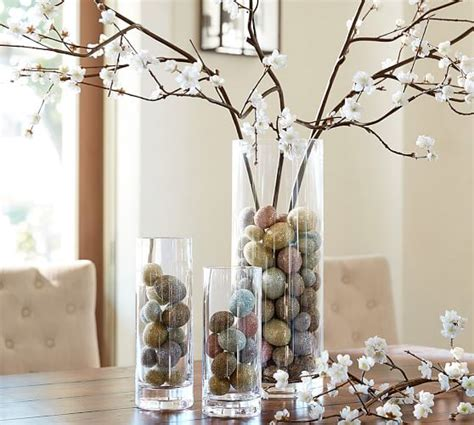 Decorating Ideas Clear Glass Vases Aegean Clear Glass Vases Pottery Barn Home Ideas