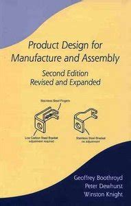 design for manufacturing and assembly pdf product design for manufacture assembly revised