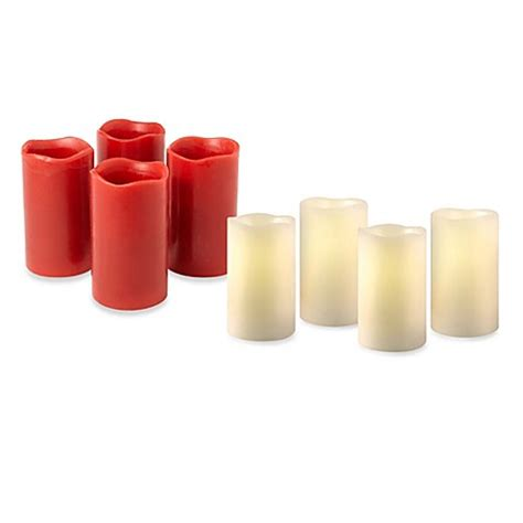 Colored Flameless Candles With Timer by Loft Living Flameless Led Pillar Candles With Timer Set