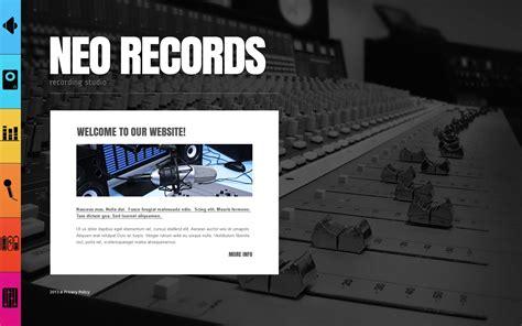 Recording Studio Website Template 43559 Studio Website Template