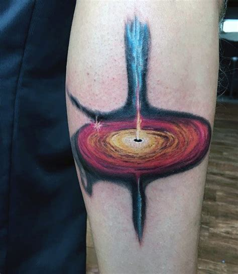 black hole tattoo designs top 100 best science tattoos for manly design ideas