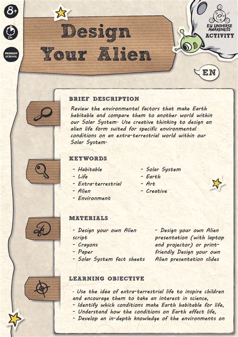 Design Your Own Home Download Design Your Alien Activity Unawe
