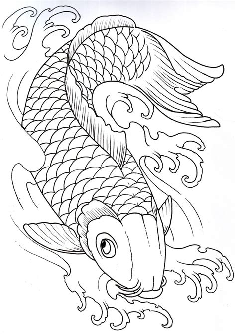 hot tattoo outlines koi outline 2 by vikingtattoo on deviantart