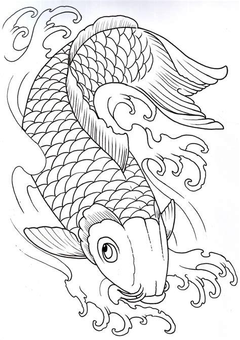 Koi Tattoo Outline | koi outline 2 by vikingtattoo on deviantart