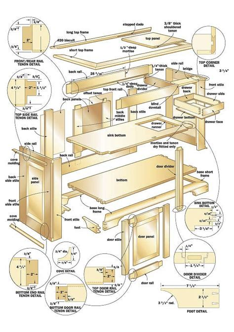 design blueprints for free cherry sink woodworking plans woodshop plans