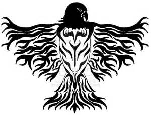 my tribal hawk back tattoo by alanahawk on deviantart
