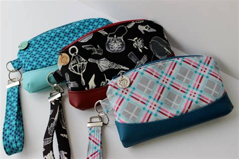free sewing pattern zippered clutch free the clematis wristlet pdf sewing pattern blue