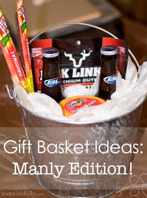 diy awesome gift basket for man