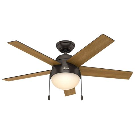 Hunter Anslee 46 In Indoor Premier Bronze Ceiling Fan Indoor Ceiling Fans With Lights
