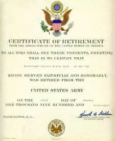 navy retirement certificate template warden milton roth memorabilia album