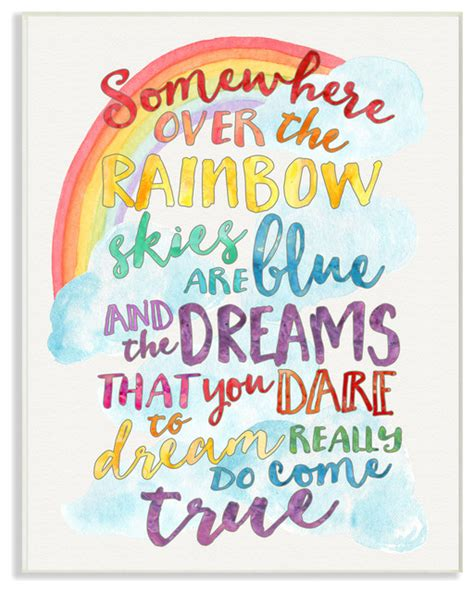 11 Piece Dining Room Set Quot Somewhere Over The Rainbow With Rainbow Quot Wall Plaque Art