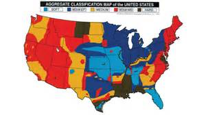 aggregate hardness map of the united states