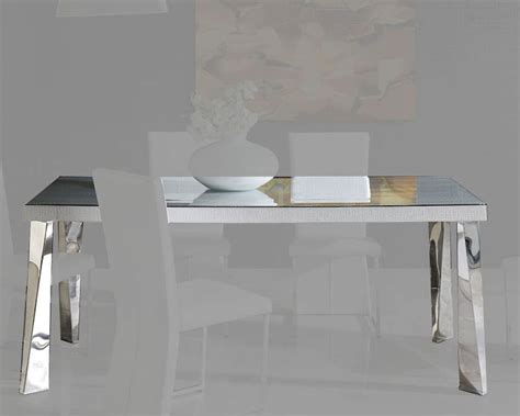 modern white glass top dining table european design