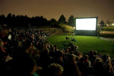 backyard movie screen rental open air screen rental blue monkey events