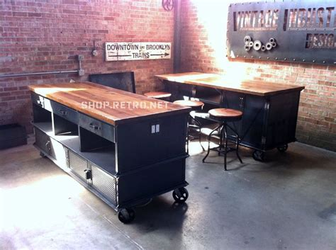 industrial kitchen islands vintage industrial kitchen island antique cart utility