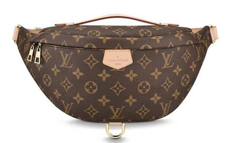 louis vuitton bumbag monogram lv logo fanny belt brown