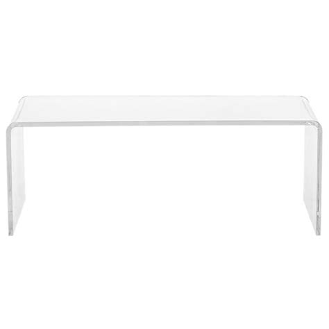 cb2 acrylic coffee table horchow crystalline coffee table copy cat chic