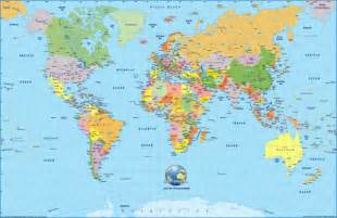 World Cities Map by World Map Mappery