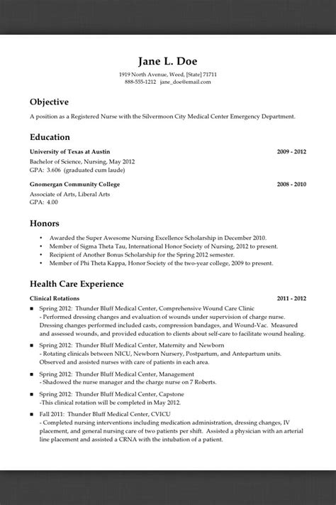 Exle Resume Pending Graduation How Do You Write A Resume Before Graduating And With No Quot Nursing Experience Quot Studentnurse
