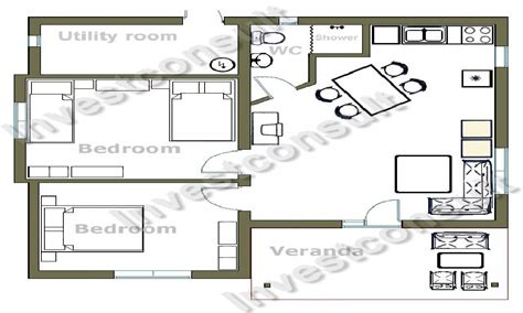 2 bedroom tiny house plans small two bedroom house floor plans small two bedroom
