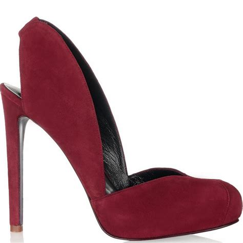 burgundy thin high heels shoes for closed rounded