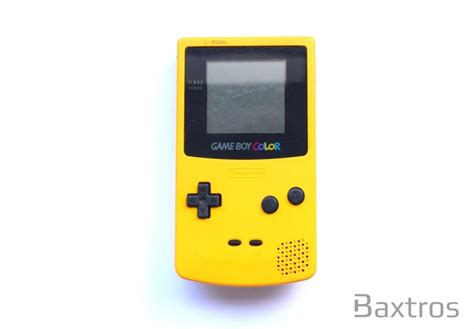 yellow gameboy color nintendo gameboy color yellow console baxtros