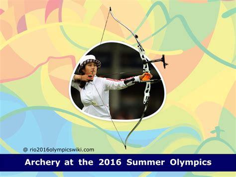 2016 summer olympics archery archery at the 2016 summer olympics