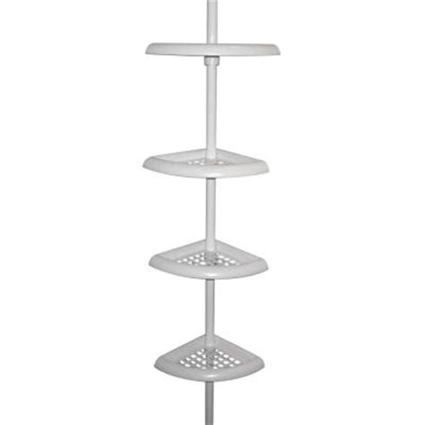 bathtub caddy home depot zenna home 4 tier corner shower caddy in white e2104w