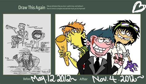 Ed Edd And Eddy Memes - draw this again meme ed edd n eddy adult hood by