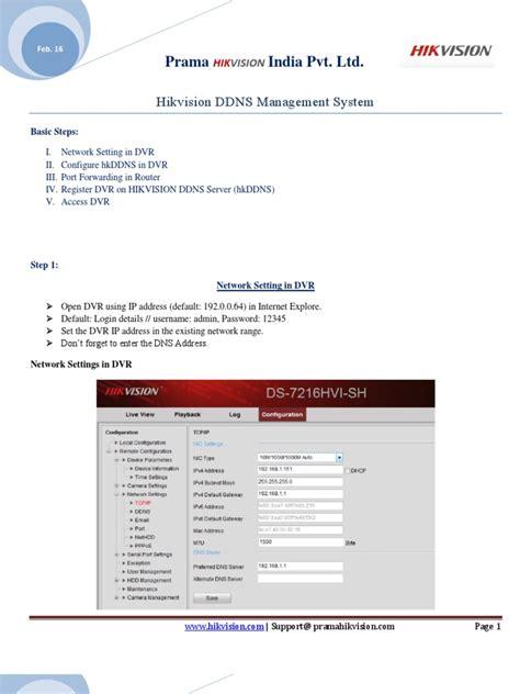 hikvision ddns management system