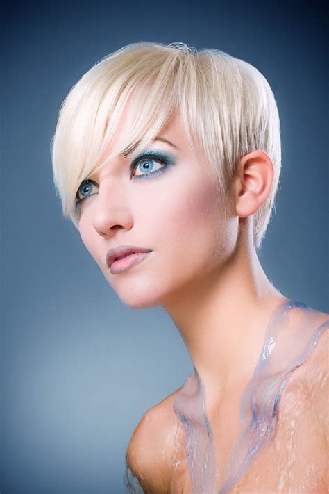 haircuts for small eyes image detail for white blonde hairstyle with baby blue