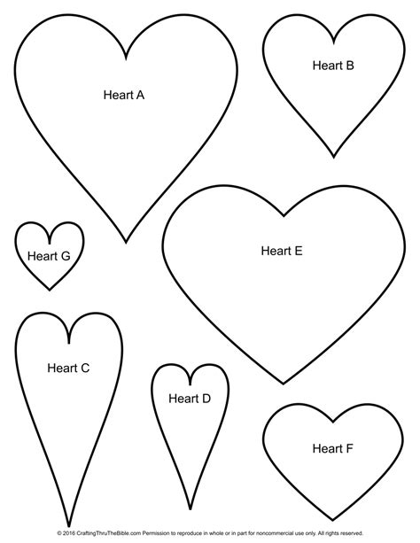 best photos of template heart shape free printable with