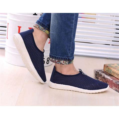 Arion Slip Ons Blue Sepatu Wanita Slip On Flat Shoes sepatu slip on mesh kasual pria size 41 blue jakartanotebook