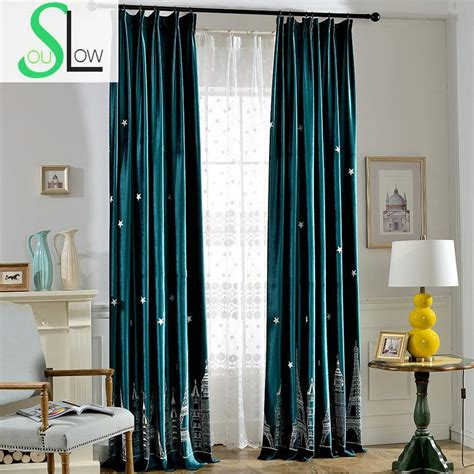 french bedroom curtains slow soul dark blue green night tower shade cloth elegant