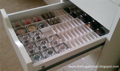 diy makeup drawer organizer the frugal closet the ikea alex storage and handmade