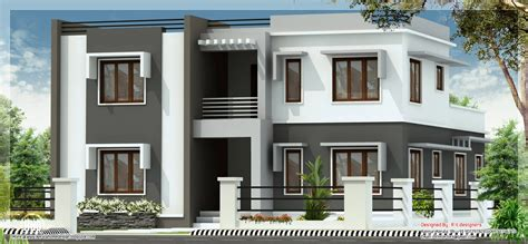 flat roof house plans wide flat roof 3 bedroom home design kerala home design and floor plans