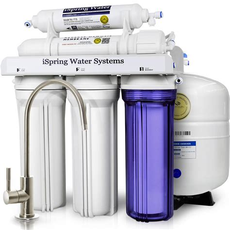 reverse osmosis under sink system ispring wqa gold seal 5 stage with superior quality filter