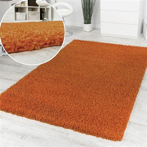 teppich einfarbig shaggy orange hochflor langflor teppich einfarbig top