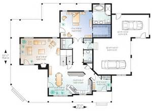 Country Open Floor Plans country craftsman house plan 64980