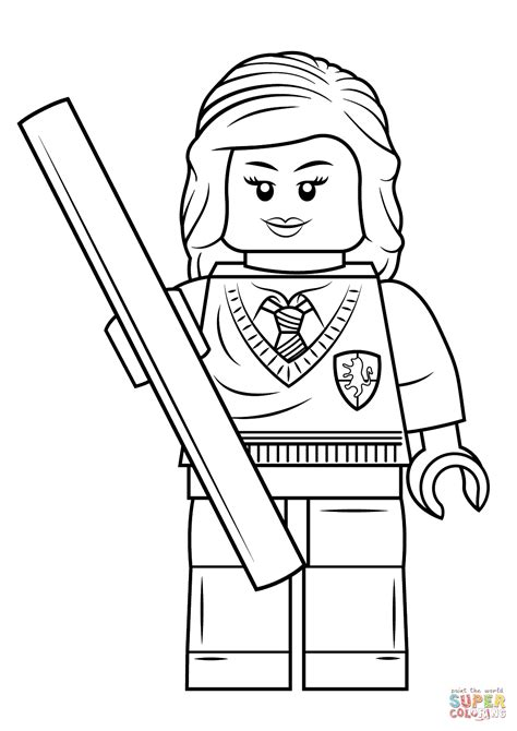 harry potter coloring book tutorial lego hermione granger coloring page free printable