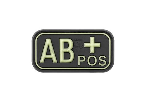 Rubber Pvc Patch Blood Type Ab Pos 1 bloodtype rubber patch ab pos glow in the jtg rubber patches patches equipment