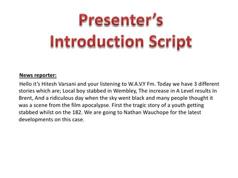 template for introducing a speaker introducing a speaker sle script reanimators