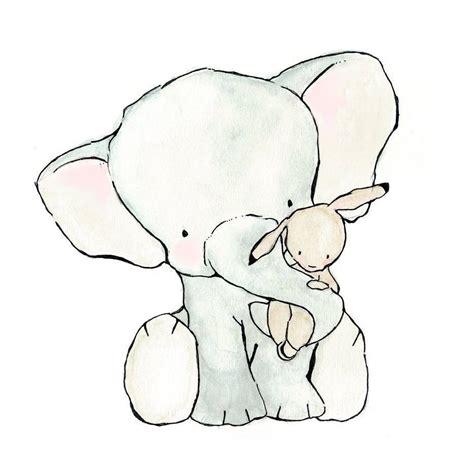kinderzimmer zeichnungen bilder elefant mit h 228 schen kinderzimmerwandideen baby