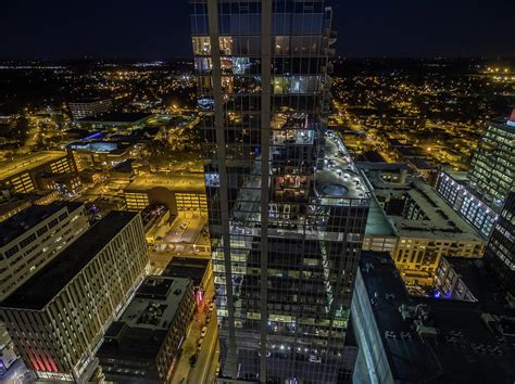 Sweepstakes Raleigh Nc - above downtown raleigh nc at night photograph by jeiel