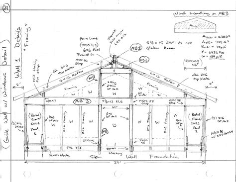 Gable End Wall Framing Wall Of Windows Structural Engineering Other Technical