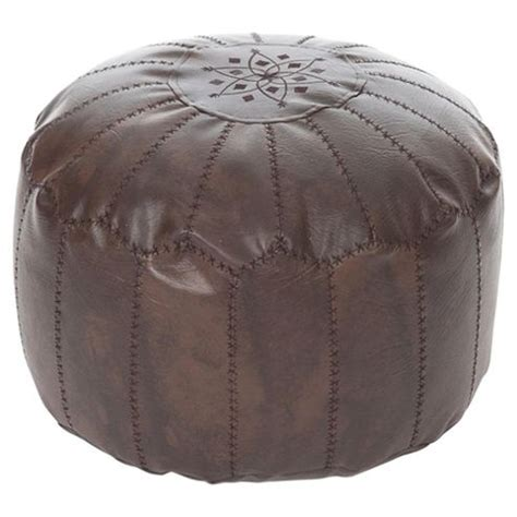 moroccan bean bag pouffe buy kaikoo moroccan faux leather pouffe with embroidery